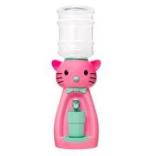 Детский кулер для воды кот Китти розовый с бирюзовым - АкваНяня