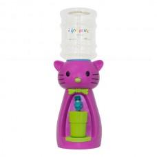 Детский кулер для воды кот Китти фиолетовый с желтым
